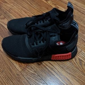 Adidas nmds men's 7 black and red